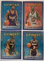 Lot of 15 Different 1995 Finest Refractor Basketball Cards in Mint Condition
