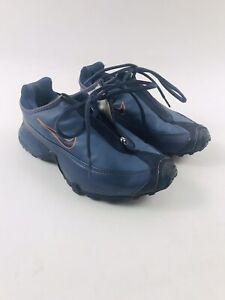 Mens Nike Air Terra Contego ACG Shield Blue/Orange Trail Running Shoes US 7 EUC!