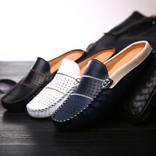 New Fashion Man Faux Leather Flats British Half Slipper Loafers Driving Shoes