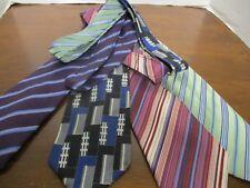 4 Geoffrey Beene Designer Ties, 3 Striped & 1 Abstract, EXCELLENT TIES!