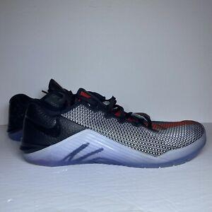 Nike Metcon 5 x MF Mat Fraser Size 10 Black/White/Red Training Shoes CN5494-106