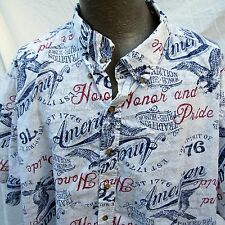 Hawaiian Aloha Shirt 4XL American Honor and Pride Spririt of 76 Freedom Flyer