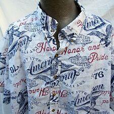 Hawaiian Aloha Shirt 4XL American Honor and Pride Spririt of 76 Freedom Flyer
