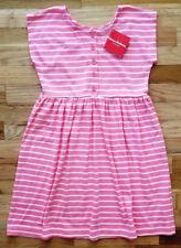 NWT HANNA ANDERSSON PLAYDRESS DAYDRESS DRESS  PINK WHITE STRIPE 140 10 NEW!