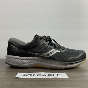 Saucony Omni ISO 2 Grey Yellow Running Shoes S20511-45 Men's Size 12