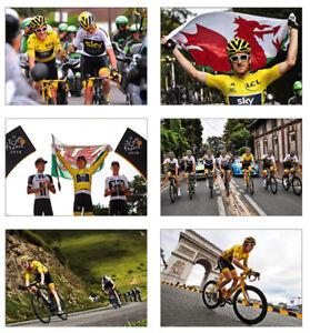 Geraint Thomas Tour de France Winner 2018 POSTCARD Set