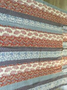 LOVELY FULL/QUEEN QUILT WITH 2 MATCHING PILLOW SHAMS, UNBRANDED,91X87,EUC