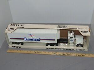 Vintage FARMSTEAD Food PETERBILT Truck Trailer ERTL 1:25 NIB SHARP!