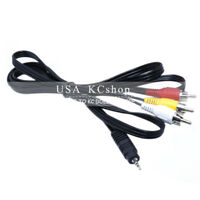 3.5mm AV to 3 RCA  Audio Video camcorde cable for Canon Sony Panasoni TV DVD