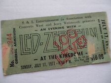 LED ZEPPELIN Original 1977 CONCERT Ticket STUB -  Seattle