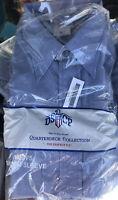 US Navy Blue Chambray DSCP Quarterdeck Collection Short Sleeve Shirt XLARG NEW