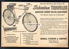1952 SCHWINN Traveller 3-speed Bike Bicycle VTG PRINT AD