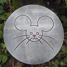 "Mouse plaque mold 10"" x .75"" thick plastic mold for plaster concrete casting"