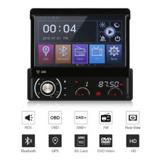 AUTORADIO MIT NAVIGATION NAVI OBD DAB+ BLUETOOTH DVD PLAYER USB SD MP3 AUX 1DIN