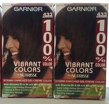 2 X Garnier Nutrisse Vibrant Colors Gel-Creme Color 100% 433 Dark Golden Brown