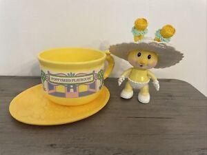 Tea Bunnies Bunny TBG TOMY Kidsview Poppyseed Playhouse Teacup  Hat Saucer