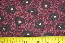 """18"""" Long, Tan & Red on Black Quilt Cotton, Thimbleberries/My Best, N762"""