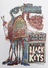 The Black Keys paper art poster | Spring 2008 European Tour reprint 10x14 LAST 1