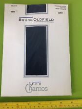 BRUCE OLDFIELD FOR CHARNOS NAVY DEMI-OPAQUE TIGHTS NYLONS bnip SIZE SMALL NEW