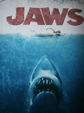 retro JAWS SHIRT Theme Music Shark Movie 70s Throwback Nude Woman Swimming Logo