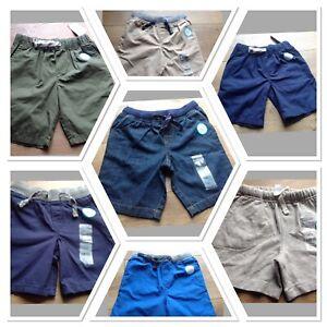Carter's Boy Shorts 24M 3T 5T Functional Drawcord Blue Denim Gray Beige New