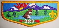 OLD OA TAHOSA LODGE 383 DENVER AREA COUNCIL CO SCOUT PATCH RED EYED CONEY FLAP