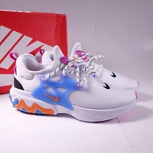 Size 11 Men's Nike React Presto Running Shoes CW7053-100 White/Black/Pink