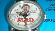 Alfred E Neuman Watch Mad 35TH Anniversary Red Band Watch Vintage New