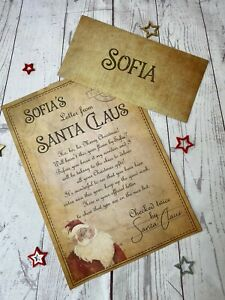 Santa Letter Father Christmas Letter North Pole Official Letter with wax seal