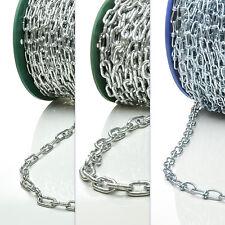 Stahl Kette 1m - 150m galvanisch verzinkt Knotenkette 1.4mm - 6mm Stahlkette