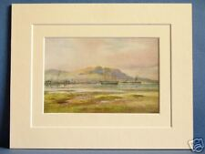 CAVE HILL BELFAST ULSTER IRELAND RARE VINTAGE DOUBLE MOUNTED PRINT 10X8 OVERALL