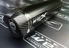 SUZUKI GSXR 1000 K1 K2 K3 K4 POLVERE NERO TRI OVALE, uscita di carbonio, gas di scarico possibile