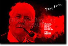 TONY BENN ARTE FOTO STAMPA POSTER DONO PREVENTIVO