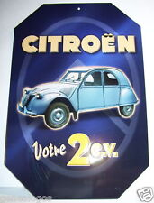 PLAQUE METAL CITROEN 2CV 2 CV TYPE AZ 1954 REPRODUCTION