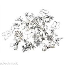 PD: 20 Mix Antiksilber Libelle Schmetterling Charm Anhänger Kettenanhänger