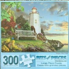 """""""Enjoy the View"""" 300-Piece Jigsaw Puzzle - Sealed Lighthouse ocean sunset"""