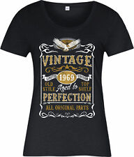 Personalised Made in 1969 Vintage Ladies T-Shirt, Born 1969 Birthday Age Year