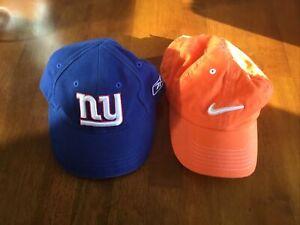 Set Of 2 NFL New York Giants NFL Blue infant Toddler Hat + Nike Hat
