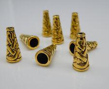 24 Perlenkappen / Endkappen 18mm groß gold Metall Kegel zB für Quasten / Troddel
