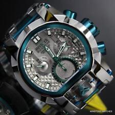 Invicta Bolt Zeus Magnum Green 52mm Dual Swiss Movt Silver Tone Steel Watch New