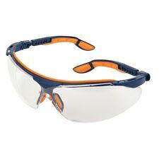 5 x Uvex i-vo Supravision Sport Safety Glasses/Specs CLEAR Lens Blue/Ora Frame