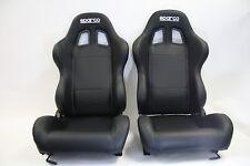 Sparco Street Black Vinyl Seat Torino II Racing - FREE SHIPPING - PAIR 2 SEATS
