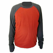 Hot Chillys Mens Waffle Weave XLS Base Layer 2tone Crew Top Hc5043 Rustcharcoal