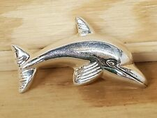 """Sterling Silver Broach Lapel Pin .925 Dolphin Porpoise Sea World Large 2.5"""""""