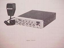 1979 COBRA CB RADIO SERVICE SHOP MANUAL MODEL 148GTL