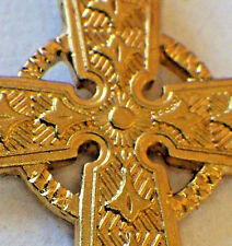 ⭐ VINTAGE CELTIC CATHOLIC CROSS ✞ CHRISTIAN STERLING GOLD VERMEIL ☧† 925 CHAIN
