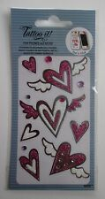 10cd TATTOO cell phone STICKER HEART angel wing decorate kindle laptop bling