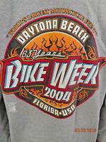 Mens Jensen 2004 Daytona Beach Bike Week Long Sleeve Pullover Shirt Size XL