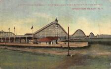 Giant Steel Roller Coaster BRIGHTON BEACH Brooklyn, NY ca 1910s Vintage Postcard