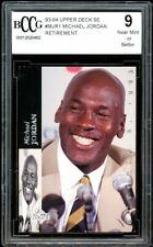 1993-94 Upper Deck SE #MJR1 Michael Jordan Retirement Card BGS BCCG 9 NM+